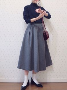 Korean Girl Fashion, Korean Street Fashion, Muslim Fashion, Japanese Fashion, Asian Fashion, Modest Fashion, Skirt Fashion, Fashion Dresses, Modest Dresses