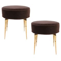 1stdibs - Pair of Round Stiletto Ottomans explore items from 1,700  global dealers at 1stdibs.com