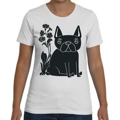 Funky French bulldog graphic Tee