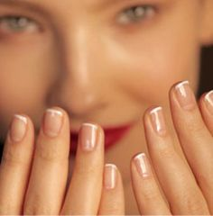 thin french tips-classy and natural