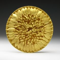 Jacqueline Ryan - Round Brooch with ridged leaves