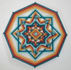Nacawe's Dream  Ojo de Dios  Mandala by HighDesertBohemian on Etsy, $40.00