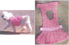 Abrigos para perros a crochet 7 Crochet Dog Clothes, Crochet Dog Sweater, Dog Sweater Pattern, Dog Pattern, Small Dog Clothes, Puppy Clothes, Chat Crochet, Dog Clothes Patterns, Dog Items