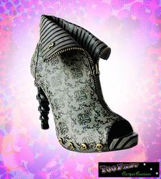 steampunk shoes and boots   Damask_Skull_heel02.jpg