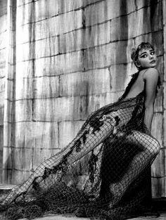 Audrey Hepburn by Philippe Halsman, 1954.