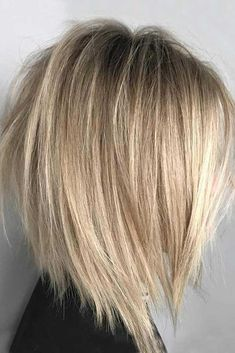 50 Trendy Inverted Bob Haircuts Inverted Ash Blonde Balayage L. Inverted Bob Haircuts, Medium Bob Hairstyles, Straight Hairstyles, Short Haircuts, Neck Length Hairstyles, Haircut Medium, Braided Hairstyles, Wedding Hairstyles, Medium Inverted Bob