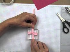 Learn some great tips for tying knots and bows for your handmade cards using clear mount blocks. This ribbon tying technique helps your bow lay flat against the card stock.  www. stampingmadly.com