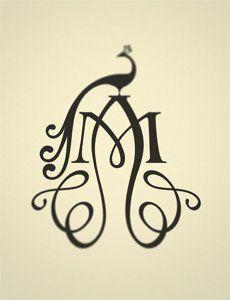 Annie M. monogram logo // eli kirk design studio (designer Jeanie Nelson)