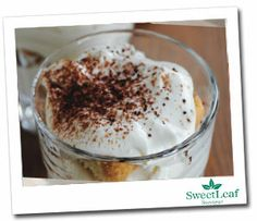 Tiramisu.  Sweetened with All Natural, Zero Calorie, Sugar Free Sweetleaf Stevia.  Healthy Thanksgiving dessert recipes