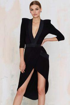 Nasty Gal - Zhivago Eye of Horus Slit Dress. Mode Outfits, Dress Outfits, Fashion Dresses, Dress Clothes, Slit Dress, Dress Me Up, Nice Dresses, Short Dresses, Inspiration Mode