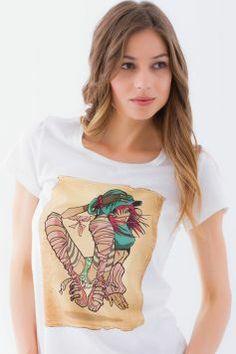 #sekizcom #woman #girl #tshirt #shopping #gri #tasarim #design #baski #fashion #clothing #sweatshirt #uzunkollu #tiger #white