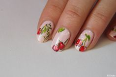 Bon rétablissement Cherry • --- • Nail art for Cherry Nail Art