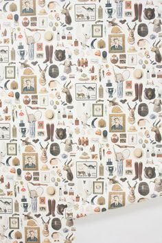 new antiquitarian wallpaper by hollister & porter hovey / @Anthropologie .
