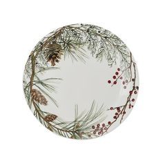 Williams-Sonoma Woodland Berry Charger ($30) ❤ liked on Polyvore featuring home, kitchen & dining, dinnerware, pine cone dinnerware, colored dinnerware, dishwasher safe dinnerware, williams sonoma dinnerware and pinecone dinnerware