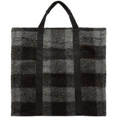 Isabel Marant Etoile Grey Plaid Wool Rusty Tote