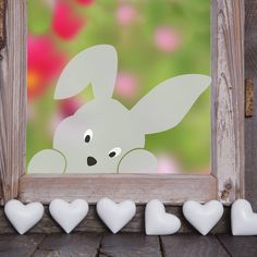 This peeping bunny window sticker is perfect to add a bit of fun to your decor this Easter. This peeping bunny window sticker is perfect to add a bit of fun to your decor this Easter. Window Stickers, Diy Stickers, Window Decals, Easter Crafts, Crafts For Kids, Easter Party, Easter Bunny, Christmas Ornaments, Handmade