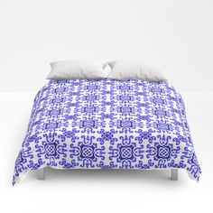 Buy Classic Mediterraean Blue Tiles Comforters by annaki. Worldwide shipping available at Society6.com. Just one of millions of high quality products available.