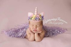 New baby photoshoot unicorn ideas 6 Month Baby Picture Ideas, Baby Girl Pictures, Girl Pics, Family Pictures, Newborn Photo Props, Newborn Photos, Baby Photos, Baby Girl White Dress, Baby Dress