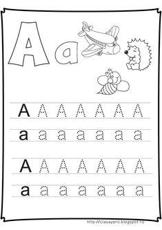 Fise litere | CLASA PREGATITOARE Preschool Writing, Free Preschool, Preschool Worksheets, Letter D Worksheet, Community Helpers Kindergarten, Baby Chart, Paper Trail, School Lessons, Home Schooling