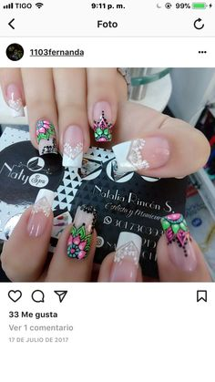 Nail Art Images, 3d Nail Art, Nail Manicure, Pedicure, Beauty Nails, Hair Beauty, Luxury Nails, Silver Nails, Nail Decorations
