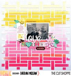 I am sharing a new layout up on today using the awesome basket weave cut file! I love the ombre effect! Oh My Heart, Ombre Effect, Scrapbooking Layouts, Basket Weaving, Cutting Files, Cuddling, Are You Happy, My Love, Awesome