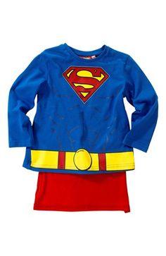Mega lækre Superman T-shirt Blå Rød Superman T-shirt til Børn & teenager i behageligt materiale