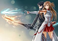 sword art online kirito and asuna wallpapers.tresto… sword art online kirito and asuna wallpapers. Manga Anime, Anime Body, Sao Anime, Otaku Anime, Sword Art Online Asuna, Kirito Sword, Sword Art Online Movie, Sword Art Online Cosplay, Kunst Online