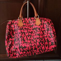 Authentic Stephen Sprouse Speedy Collectors item! Lettering is wearing off in some spots (as seen in pictures) but not too bad. Lock included but no key or dustbag. Absolutely authentic. Price firm. I don't mind keeping this beauty  Louis Vuitton Bags