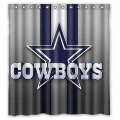 Cowboys Bathroom Shower Curtainsbathroom Showerswaterproof Fabricdallas