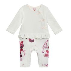 Baker by Ted Baker Baby girls' white floral romper suit Ted Baker Baby, Romper Suit, Printed Trousers, Mother And Baby, Debenhams, Floral Romper, Future Baby, Little Ones, Baby Girls