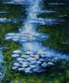 Monet - Water Lilies (blue-green)