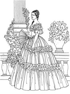 noblewomen_05 Adult and teen coloring pages