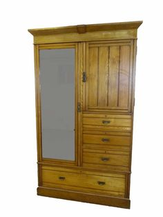 elegant and practical turn of the 20th century oak gents wardrobe. Heritage piece from www.resourcevintage.co.uk