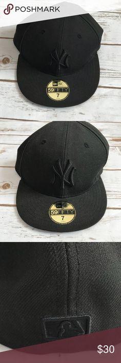 0e87657ceeed2 New York Yankees New Era Hat Black on black New York Yankees hat