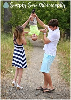 Outdoor Family Photo Ideas & Poses - Parents with One Year Old Son Hanging Upside Down - Fun Photos - Billings, MT Family & Child Photographer