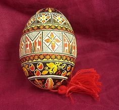 REAL GOOSE Egg Hand Painted Ukrainain Easter EGGS / PYSANKA / PYSANKY.