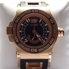 Hysek Abyss Power Reserve 18KT Rose Gold Men's Watch. Asking price: $17500