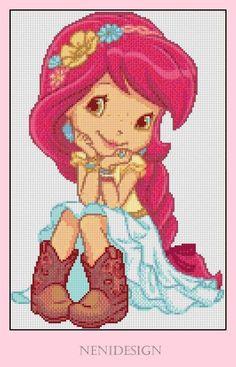 Cross stitch pattern Strawberry Shortcake Instant by NeniDesign