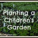 Planting a Children's Garden at a Local Farm