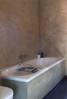 Prachtige betonlook badkamer! Door betonlookdesign