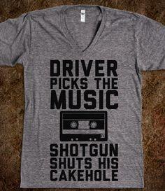Driver Picks the Music Shotgun Shuts His Cakehole (Supernatural)