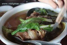 """Bulalo ( Beef bone marrow soup) :     why most people say """"Bulalo is best in Tagaytay?    The cool breeze and quality time with family and friends are the main ingredient.    source: http://ronaldo-santiago.blogspot.com/2011/01/tagaytay-bulalo.html"""