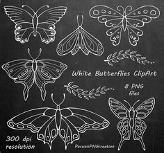 White Butterfly Clipart Chalkboard clipart PNG Digital Butterflies Butterfly Silhouettes Digital Stamp For Personal and Commercial Use Uncategorized butterfly Chalk art Chalkboard Clipart, Chalkboard Drawings, Chalkboard Lettering, Chalkboard Print, Chalkboard Designs, Tafel Clipart, Butterfly Clip Art, White Butterfly, Chalkboard Art