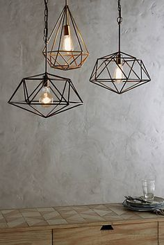 Euclidean Pendant, Diamond (kitchen)