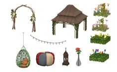 Conversion of Bohemian Garden Set from the Ts3 store. (Request)This was a request made by someone, I can't remember who by now, apologies for that! But, here it is, it is another beautiful set from the ts3 store. Here's what you get:Wonderfully Woven Hanging ChairHappily Hippie Patchwork PoufString of Inspiration Ceiling LightSimple Idea LanternString of Inspiration (Wall)One with Earth Garden GazeboOne Love Rose in VaseWhimsical WildflowersWonderfully Wild FlowersCare-Free Wild ...