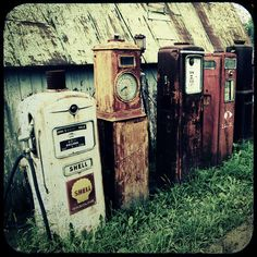 Old Gas Pumps Fine Art Photograph 8x8, shell gasoline- Home Decor. $30.00, via Etsy.