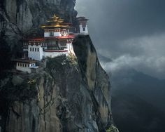 Takshang Goemba, clinging to the cliffs of Bhutan, Himalayas (inspiration for the fortress in Batman Begins).