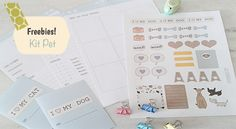 DOWNLOAD: PLANNER PET Inserts A4 e A5; Pocket Planner Pet; Stickers Cat e dog;