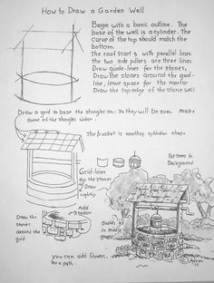 How to draw a garden well worksheet