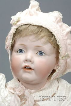*LARGE KESTNER 'HILDA' CHARACTER DOLL ~ impressed M 16, Made in Germany, JDK 237, with open mouth 2 upper inset teeth, weighted blue eyes...